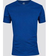 t-shirt i bomull - mörkblå