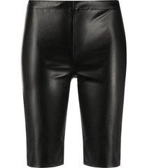david koma faux-leather shorts - black
