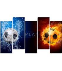 quadro decorativo para sala quarto futebol jogo play