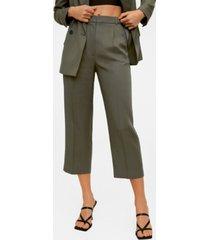 mango women's pleat detail pants