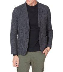 men's good man brand slim fit vintage twill knit sport coat, size large - black