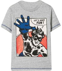 marc jacobs grey superhero t-shirt