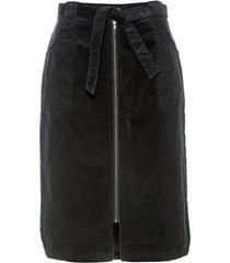 gonna in velluto con cintura (nero) - bpc selection