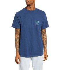 men's vans triangle shaper graphic tee, size small - blue