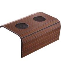 bandeja braço de sofá com porta copo tradicional tabaco