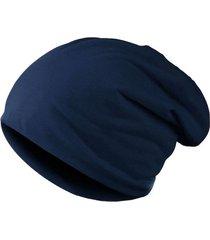 gorro liso unisex punto elastico invierno casual 010 azul