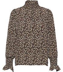 blouse blus långärmad brun sofie schnoor