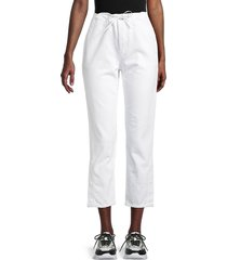 rta women's matisse high-rise cropped pants - white - size xs