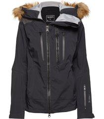 kamya outerwear sport jackets padded jacket zwart tenson