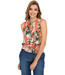blusa manga sisa con elastico en cintura