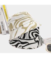 1pc zebra patrón cubo sombrero