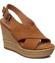 w harlow sandalette med klack espadrilles brun ugg