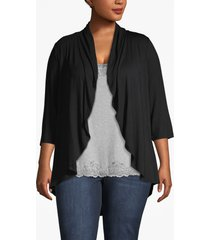 lane bryant women's drape front cardigan 26/28 black