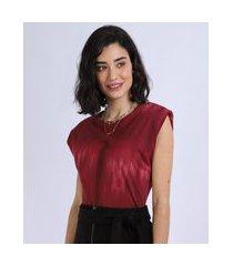 regata muscle tee feminina estampada tie dye com ombreira decote redondo vermelha