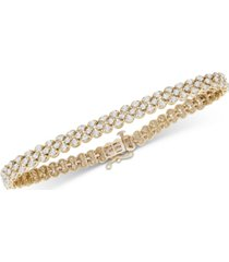 diamond three-row bracelet (4 ct. t.w.) in 14k white gold (also available in yellow gold)