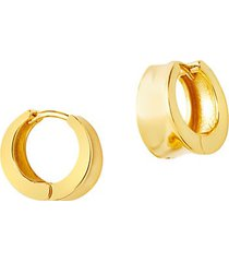 14k gold vermeil chunky huggie hoop earrings