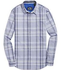 joe joseph abboud blue & navy plaid sport shirt