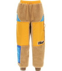 stella mccartney kara cargo trousers in teddy mat