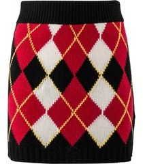 red valentino wool blend skirt