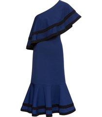 abito monospalla con volant (blu) - bodyflirt boutique