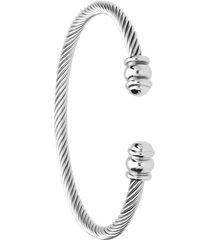 bracciale rigido regolabile in acciaio torchon per donna