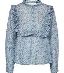 jacqueline shirt blus långärmad blå nué notes