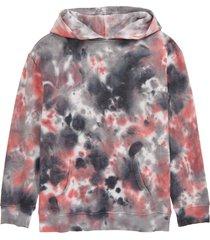 boy's elwood kids' tie dye hooded sweatshirt, size x-large - red