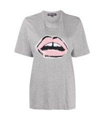 markus lupfer camiseta com paetês - cinza