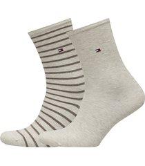 th women small stripe 2p lingerie hosiery socks beige tommy hilfiger