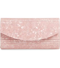 nordstrom rounded lucite flap clutch - pink