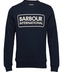 b.intl large logo sweat sweat-shirt tröja blå barbour