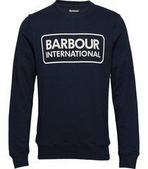 b.intl large logo sweat sweat-shirt tröja blå barbour