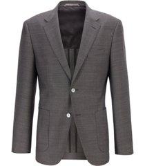 boss men's janson7 micro-print wool regular-fit blazer