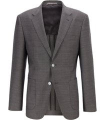 boss men's janson7 micro-print wool regular-fit blazer