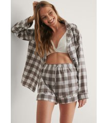 na-kd lingerie flannel pyjamas shorts - grey