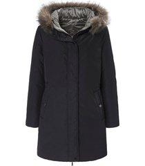 keerbare lange jas met blinde 2-weg-ritssluiting van basler zwart
