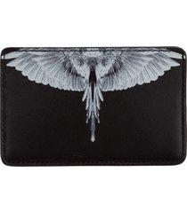 porta carte di credito portafoglio uomo pelle wings