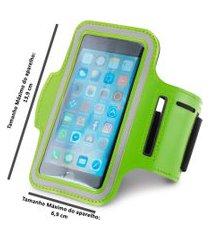braçadeira esportiva para smartphone 5  verde ,