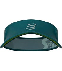 viseira compressport ultralight triathlon - swim-bike-run verde/cinza