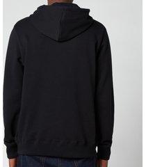 ps paul smith men's embroidered zebra logo hooded sweatshirt - black - l