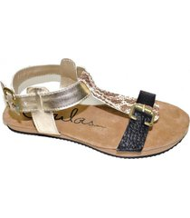 sandalia negra tamara shoes