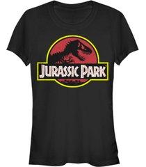fifth sun jurassic park women's classic original logo short sleeve tee shirt