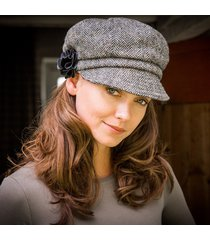 ladies irish wool newsboy cap gray