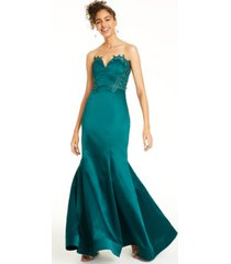 city studios beaded applique-trim gown, created for macy's