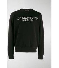dsquared2 milano logo printed sweatshirt