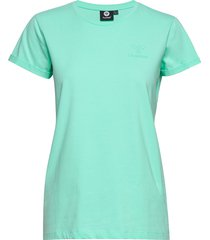 hmlisobella t-shirt s/s t-shirts & tops short-sleeved grön hummel