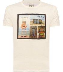 camiseta aleatory estampada beach masculina