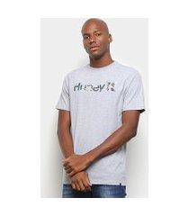 camiseta hurley logo flowers masculina