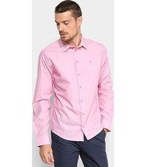 camisa manga longa listrada forum smart masculina