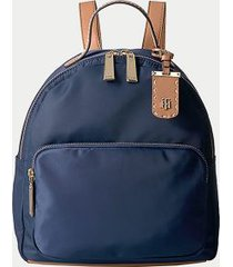 tommy hilfiger women's solid dome backpack tommy navy -